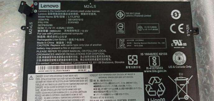 Оригинална батерия (01AV463) за Lenovo Thinkpad L490 L480 L470 L580 E490 E590 E485